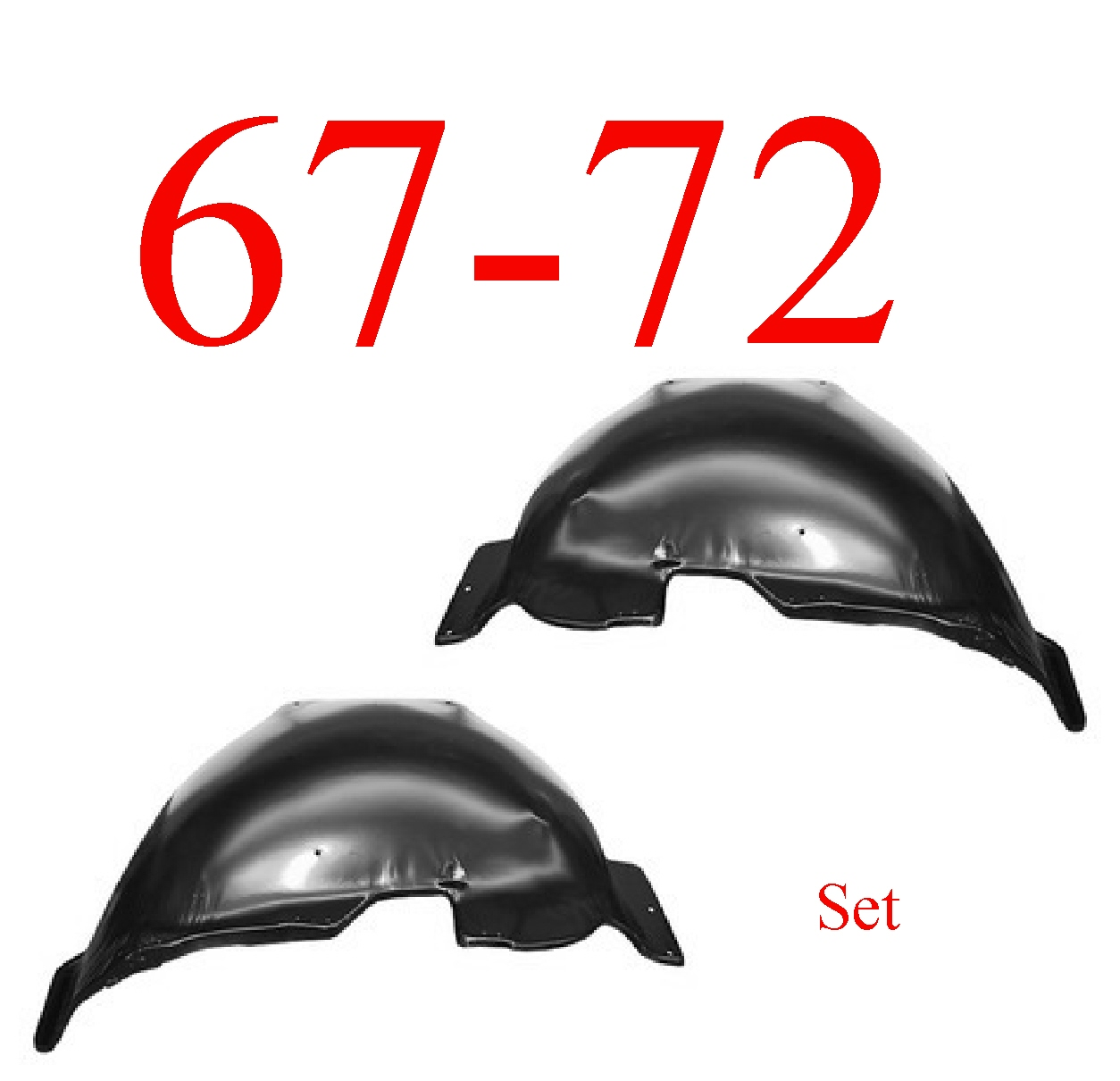 67-72 Chevy Inner Fender Set